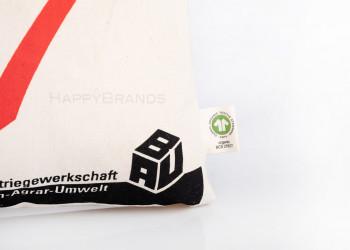 Bio Baumwollbeutel mit GOTS Aussen Label