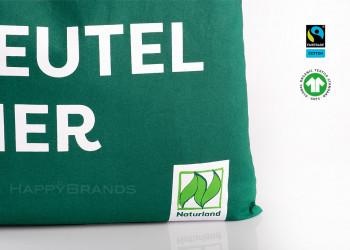 Bio Baumwollbeutel mit eigenem Logo