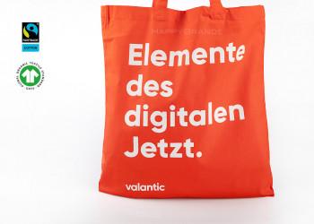 Bio Einkaufstasche mit Werbung bedruckt