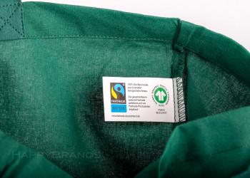 Bio Tasche mit Fairtrade Etikett