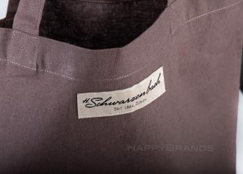Einkaufsshopper Logo Firmenname Patch Etikett Label
