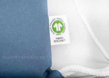 Giveaway Sportsack Zuziehbeutel GOTS Etikett Merchandise