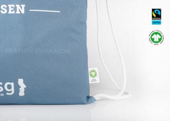 Oeko Turnbeutel Gymbag aus Biobaumwolle GOTS herstellen produzieren