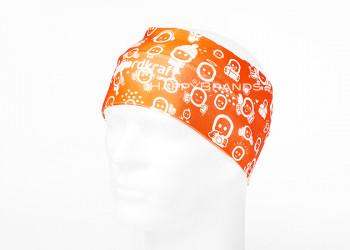 Werbe Stirnband mit Logo Motiv bedrucken
