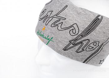Werbegeschenk Baumwoll Stirnband mit Firmen Logo