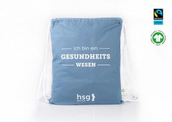 Werbegeschenk GOTS Sportbeutel Bio Turnbeutel Werbeartikel Fairtrade