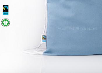 Werbemittel Fairtrade Rucksackbeutel Gymnastikbeutel Herstellung Produktion