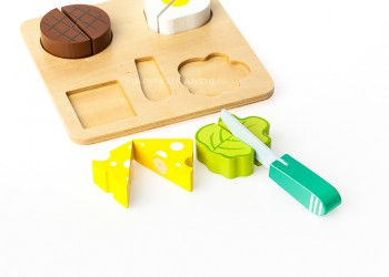 Holz Schneidebrett fuer Kinder Kundenpraesent