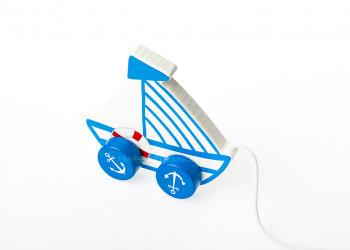 Nachziehspielzeug aus Holz Werbeartikel