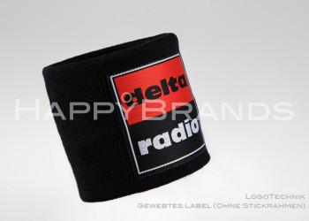 Schweissband Logotechnik Gewebtes Label 800