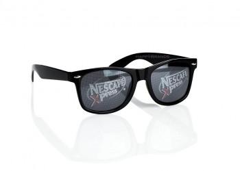 Sonnenbrille Werbung auf Glaesern