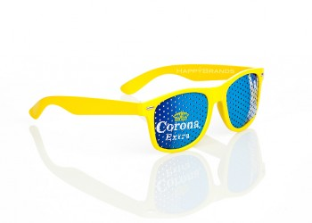 Sonnenbrille mit Werbedruck
