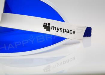 SunVisorCap SiebDruck CloseUp MYSPACE 800