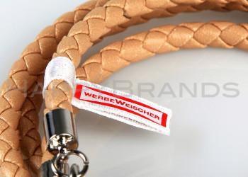 Wickelarmbaender Merchandising Logo Satin Label
