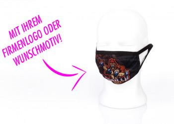 Bedruckte Alltagsmaske mit eigenem Logo bedrucken lassen