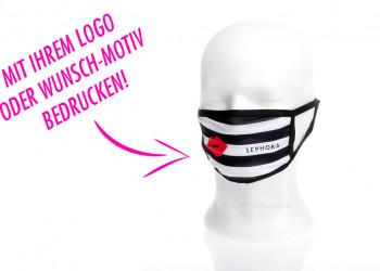 Werbe Stoffmasken mit Logo bedrucken Sonderanfertigung